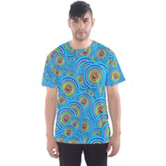 Digital Art Circle About Colorful Men s Sport Mesh Tee