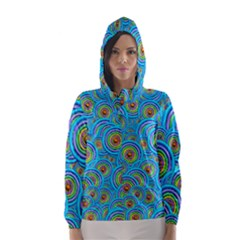 Digital Art Circle About Colorful Hooded Wind Breaker (Women)