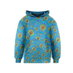 Digital Art Circle About Colorful Kids  Pullover Hoodie