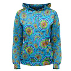 Digital Art Circle About Colorful Women s Pullover Hoodie