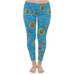 Digital Art Circle About Colorful Classic Winter Leggings