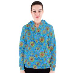 Digital Art Circle About Colorful Women s Zipper Hoodie