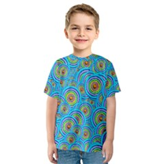 Digital Art Circle About Colorful Kids  Sport Mesh Tee