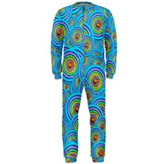Digital Art Circle About Colorful OnePiece Jumpsuit (Men)