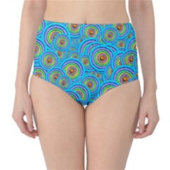 Digital Art Circle About Colorful High-Waist Bikini Bottoms