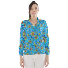 Digital Art Circle About Colorful Wind Breaker (women)