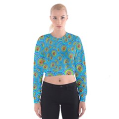 Digital Art Circle About Colorful Cropped Sweatshirt