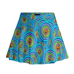 Digital Art Circle About Colorful Mini Flare Skirt