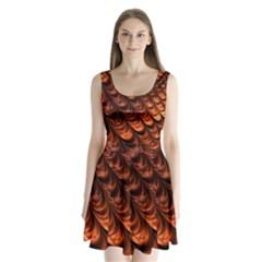 Fractal Mathematics Frax Split Back Mini Dress