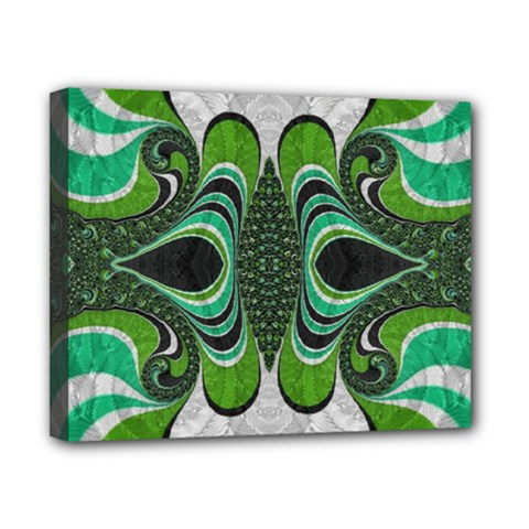 Fractal Art Green Pattern Design Canvas 10  x 8
