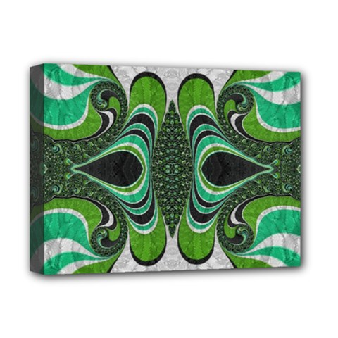 Fractal Art Green Pattern Design Deluxe Canvas 16  x 12