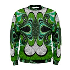 Fractal Art Green Pattern Design Men s Sweatshirt