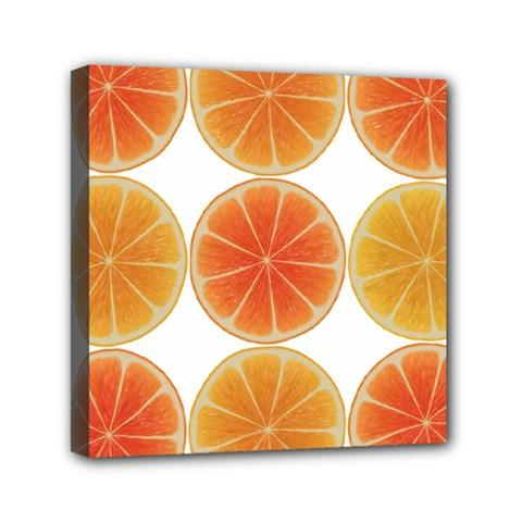 Orange Discs Orange Slices Fruit Mini Canvas 6  X 6