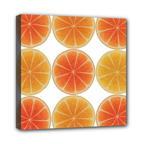 Orange Discs Orange Slices Fruit Mini Canvas 8  X 8