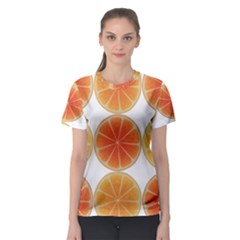 Orange Discs Orange Slices Fruit Women s Sport Mesh Tee