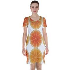 Orange Discs Orange Slices Fruit Short Sleeve Nightdress
