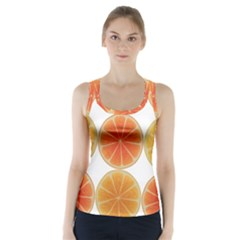 Orange Discs Orange Slices Fruit Racer Back Sports Top