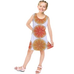Orange Discs Orange Slices Fruit Kids  Tunic Dress