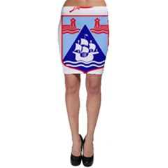 Haifa Coat of Arms  Bodycon Skirt