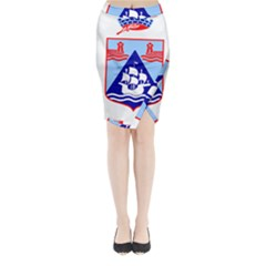Haifa Coat Of Arms  Midi Wrap Pencil Skirt