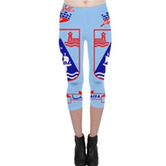 Flag of Haifa Capri Leggings