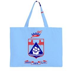 Flag of Haifa Large Tote Bag