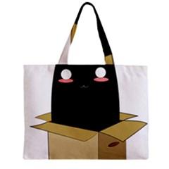 Black Cat in a Box Mini Tote Bag
