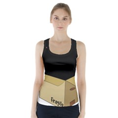 Black Cat In A Box Racer Back Sports Top