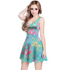 Flamingo pattern Reversible Sleeveless Dress