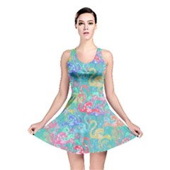 Flamingo pattern Reversible Skater Dress