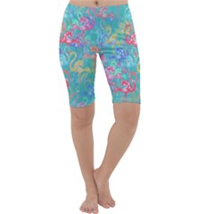 Flamingo pattern Cropped Leggings