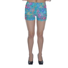 Flamingo pattern Skinny Shorts