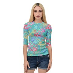 Flamingo pattern Quarter Sleeve Tee