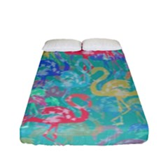 Flamingo pattern Fitted Sheet (Full/ Double Size)