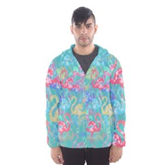 Flamingo pattern Hooded Wind Breaker (Men)