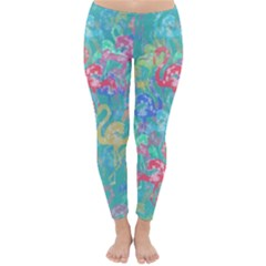 Flamingo pattern Classic Winter Leggings