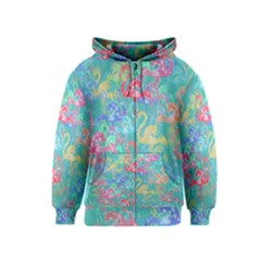 Flamingo pattern Kids  Zipper Hoodie