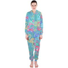 Flamingo pattern Hooded Jumpsuit (Ladies)