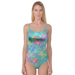 Flamingo pattern Camisole Leotard