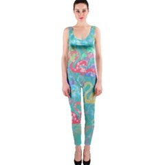 Flamingo pattern OnePiece Catsuit