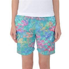 Flamingo pattern Women s Basketball Shorts