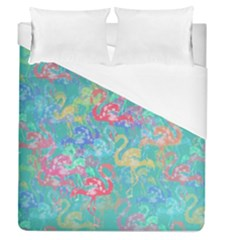 Flamingo pattern Duvet Cover (Queen Size)