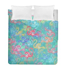 Flamingo pattern Duvet Cover Double Side (Full/ Double Size)