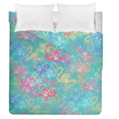Flamingo pattern Duvet Cover Double Side (Queen Size)