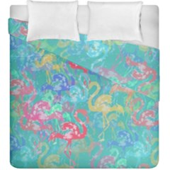 Flamingo pattern Duvet Cover Double Side (King Size)