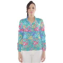 Flamingo pattern Wind Breaker (Women)
