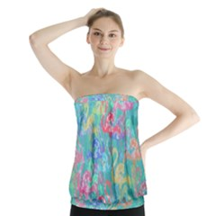 Flamingo pattern Strapless Top