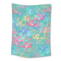 Flamingo pattern Medium Tapestry