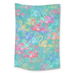 Flamingo pattern Large Tapestry