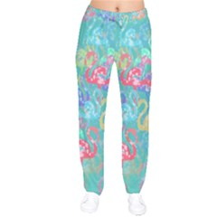 Flamingo pattern Drawstring Pants